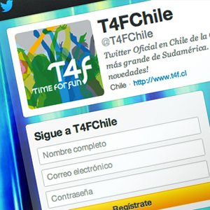 Estrategia Marketing Online T4F Chile